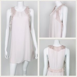 Free People Dresses - Free People Pink Ruffle Trim Tunic Dress